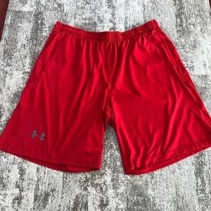 Under Armour Red Shorts with Pockets Size XL